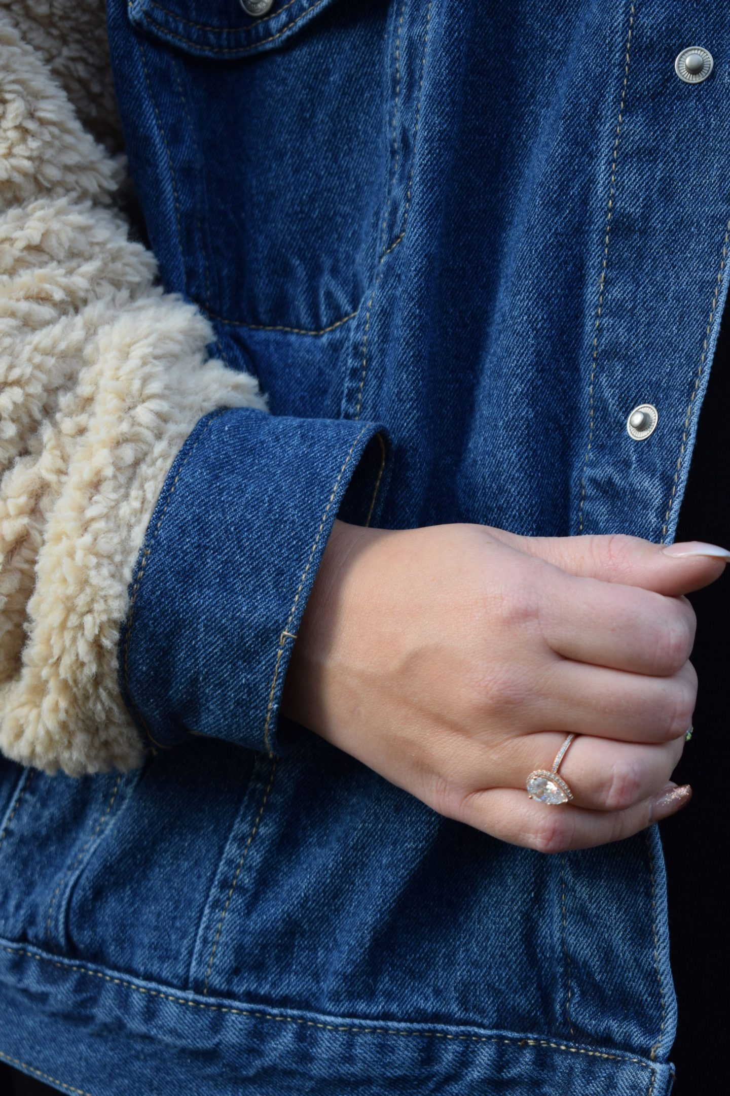 Dani Dyer Teddy Fur Denim Jacket WhatLauraLoves