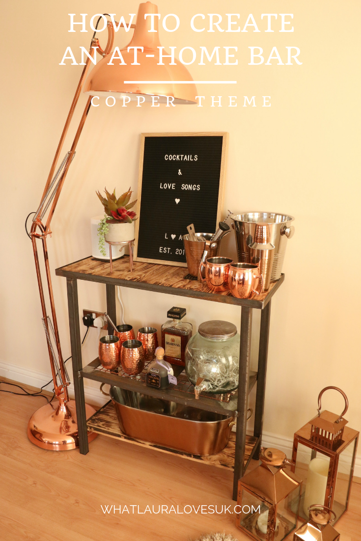 HOW TO CREATE AN AT HOME BAR WITH A COPPER THEME