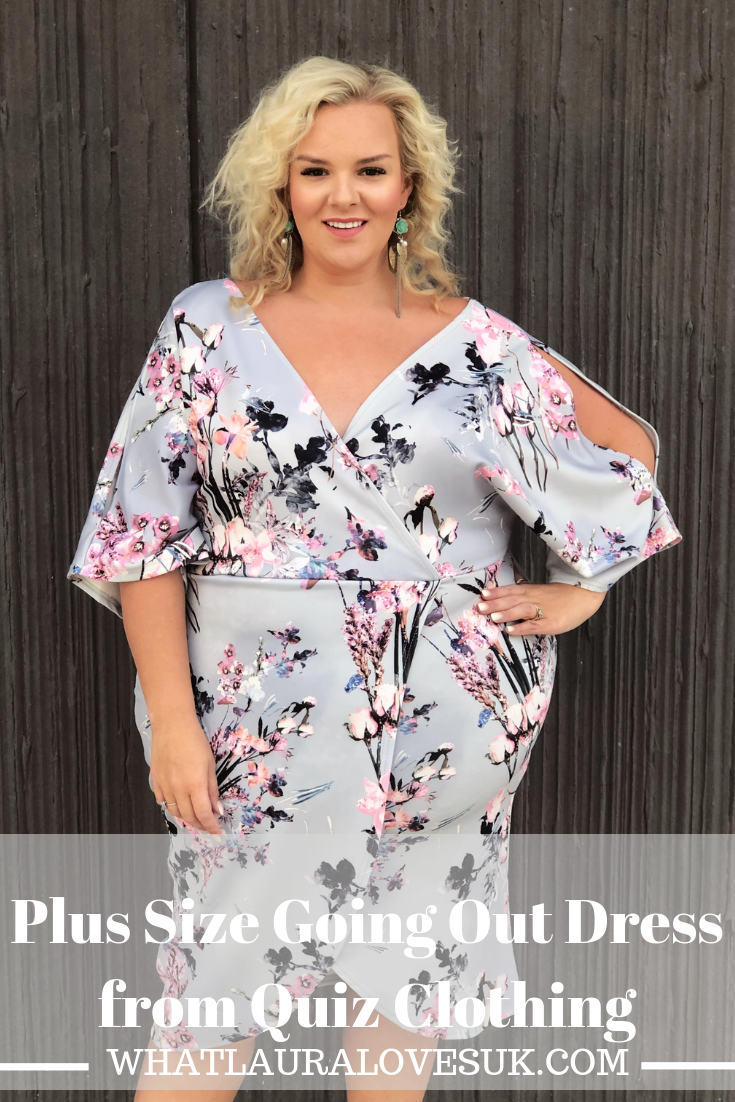 Plus size fashion blogger whatlauraloves wearing wrap dress from quiz clothing