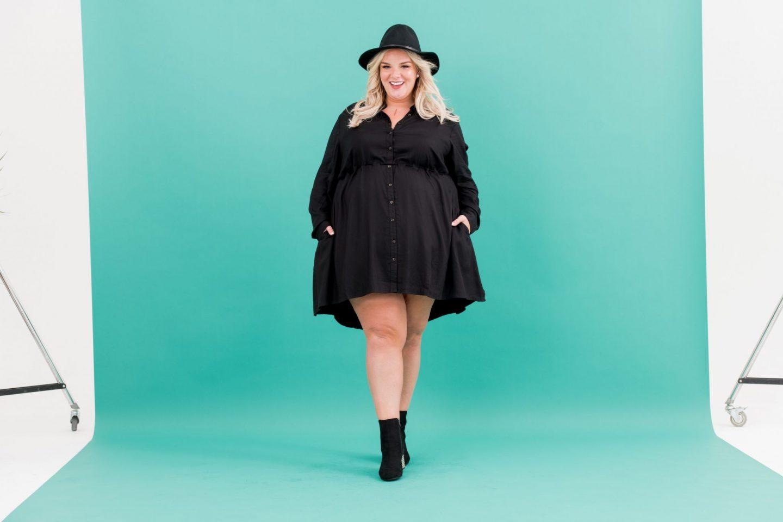 WhatLauraLoves X Curvissa Black Shirt Dress