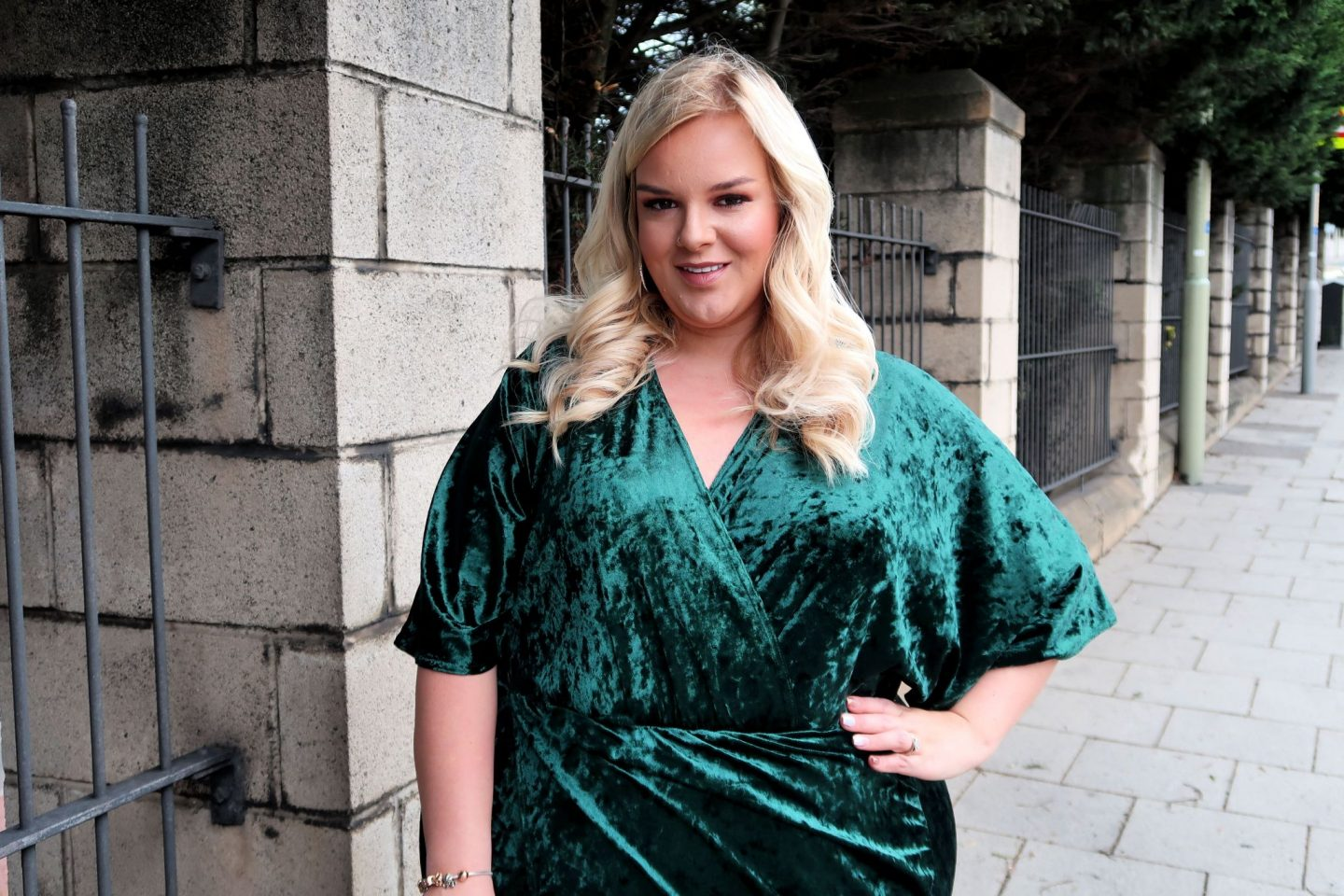 Simply Be Plus Size Green Velvet Dress WhatLauraLoves