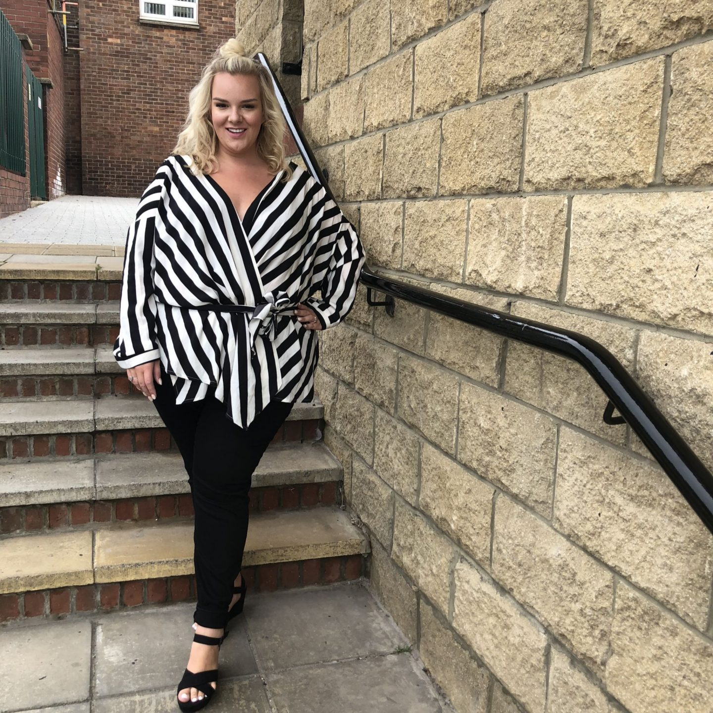 Pretty Little Thing Monochrome Blouse WhatLauraLoves
