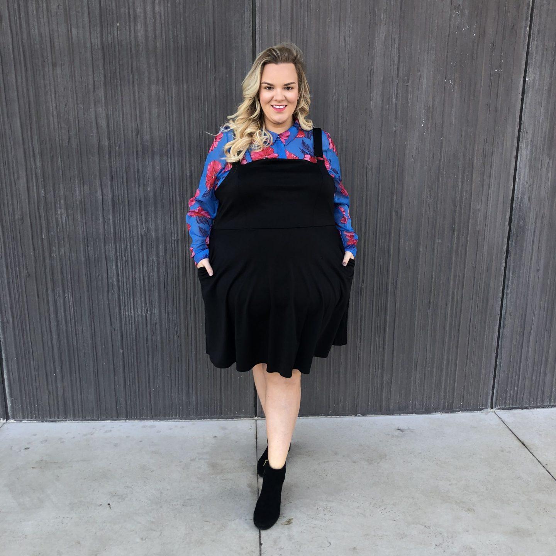 WhatLauraLoves Pinafore Dress and Floral Shirt 6