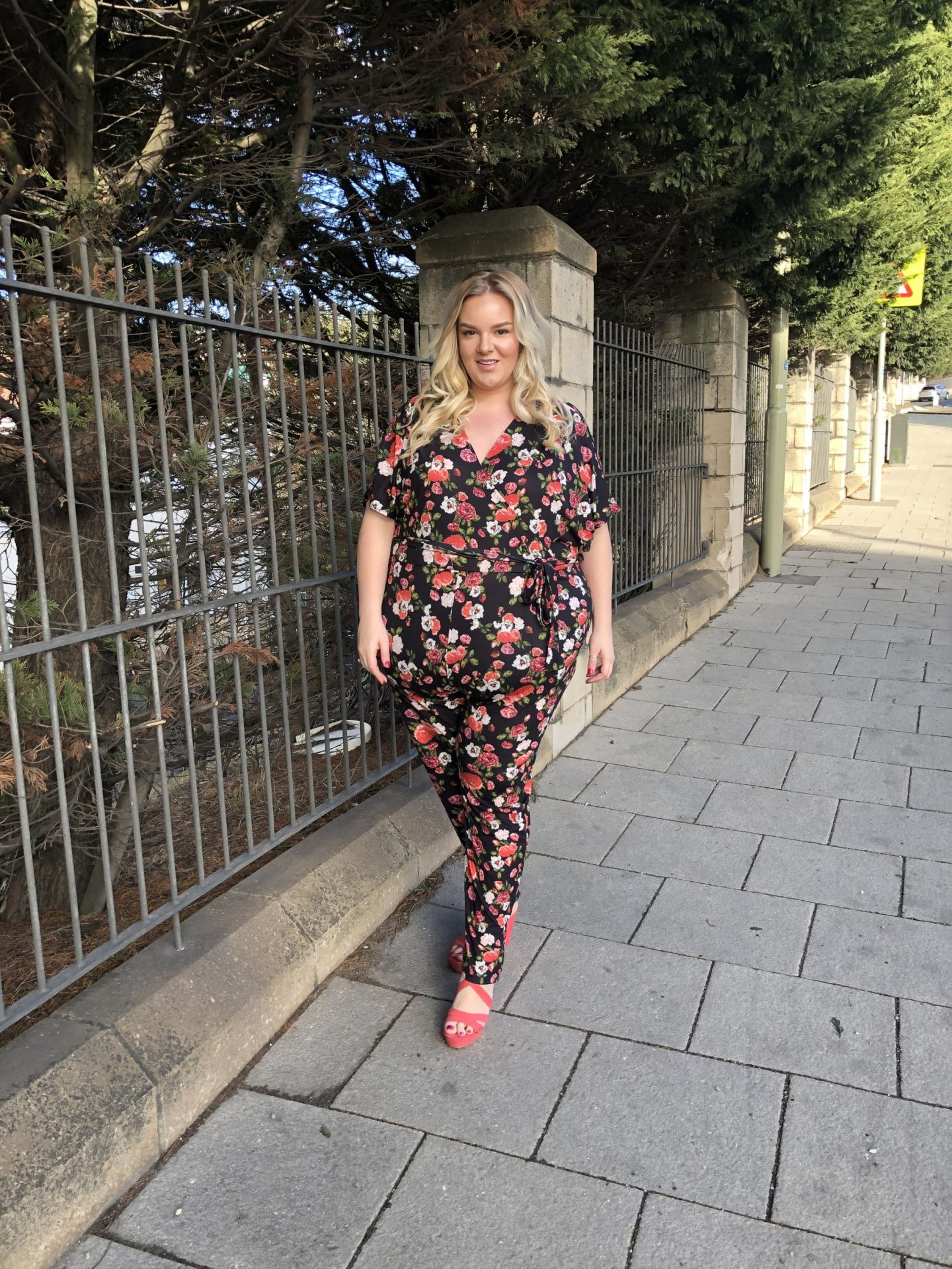WhatLauraLoves Pink Clove Plus Size Jumpsuit