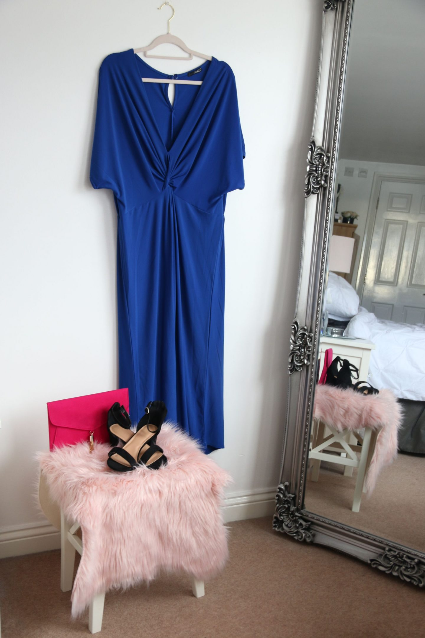 Blue Culotte jumpsuit simply be plus size occasionwear