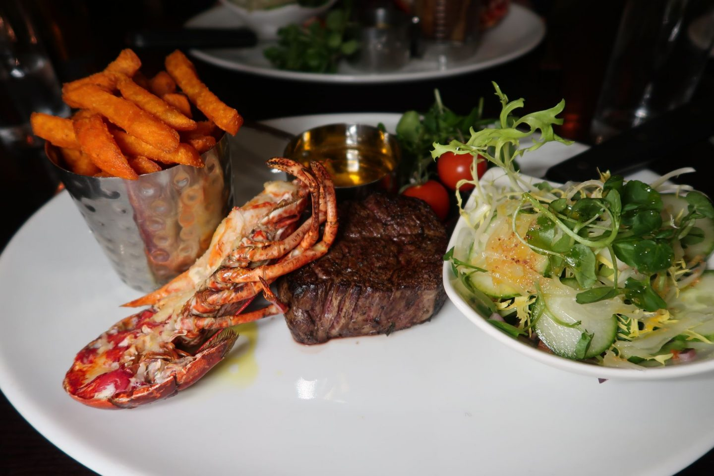 Lobster and Steak Surf and Turf Ramside Hall Rib Room