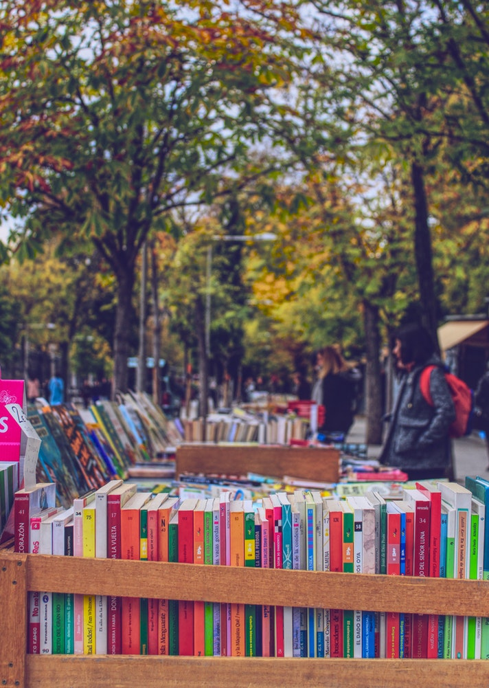 Second Hand Book Stall in Madrid Spain Leigh Cooper