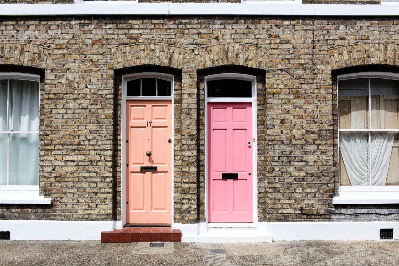 pastel doors