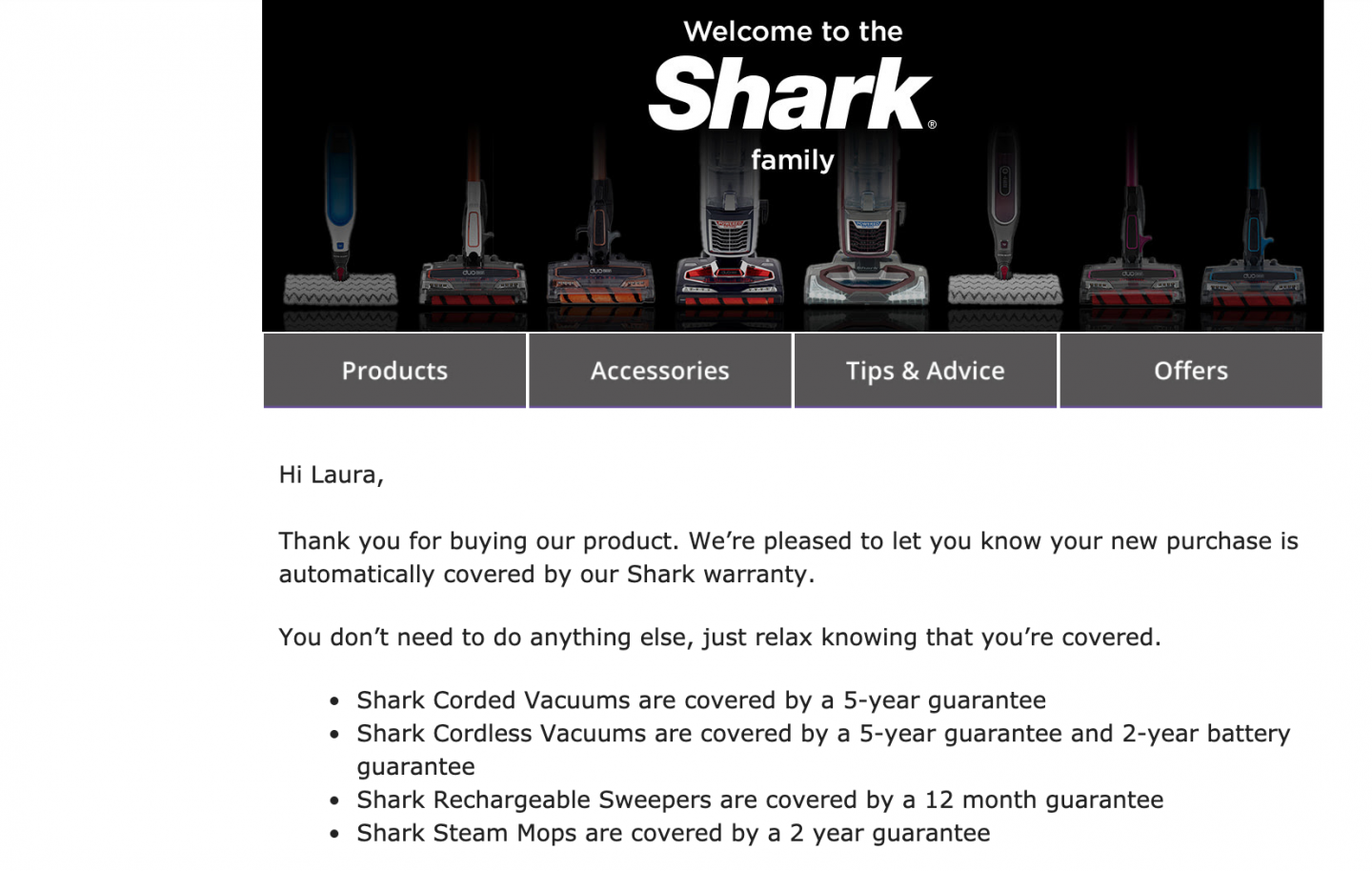 Shark Guarantee and Warranty WhatLauraLoves