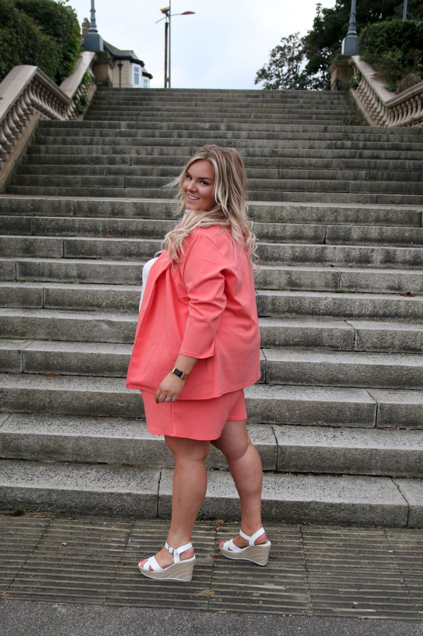 Plus Size Coral Coord Suit WhatLauraLoves