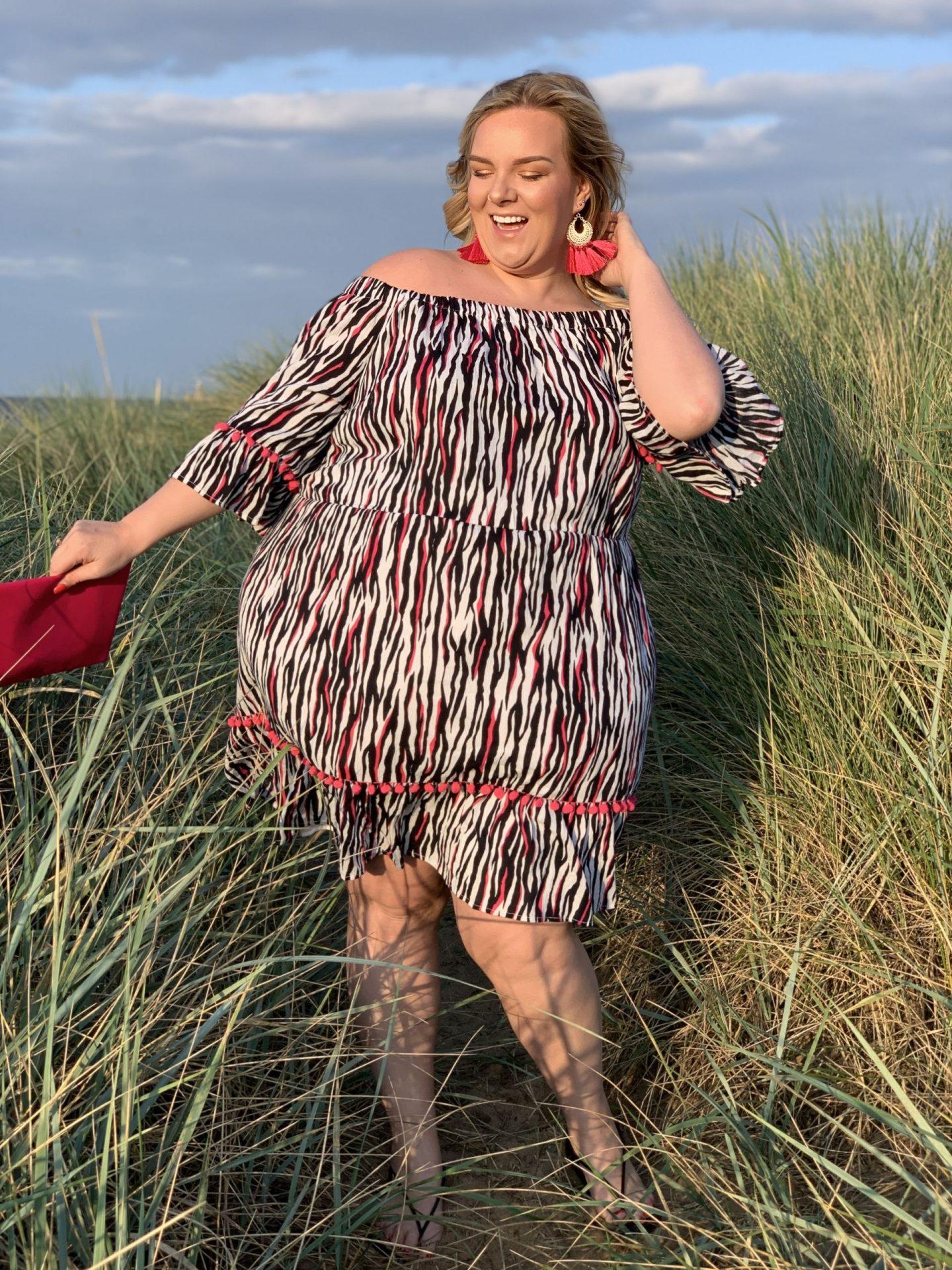 Plus Size Zebra Print Dress on WhatLauraLoves