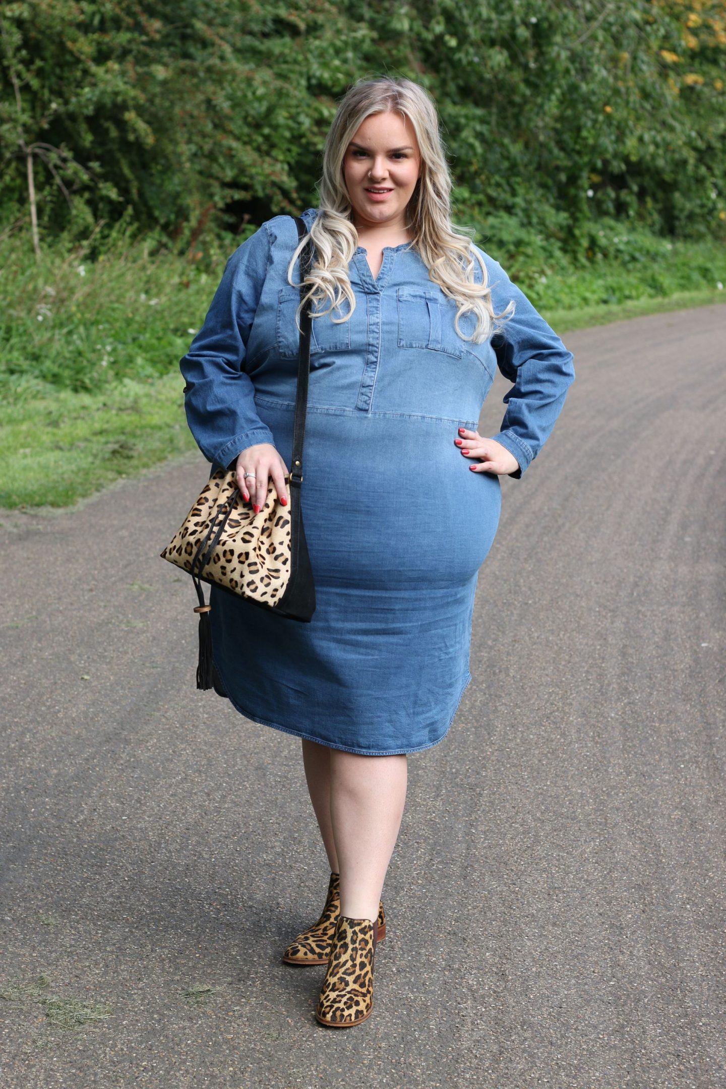 WhatLauraLoves Plus Size Denim Dress