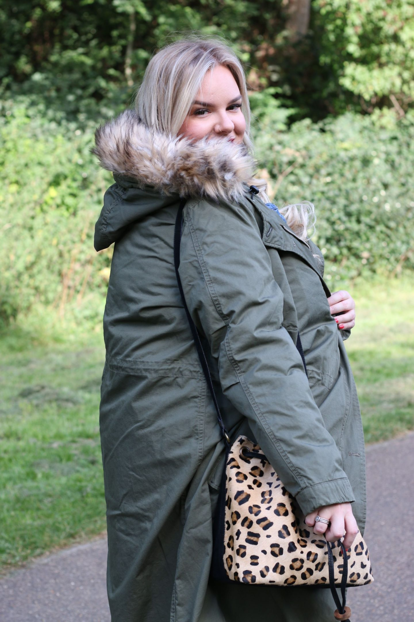 WhatLauraLoves Plus Size Khaki Parka Coat